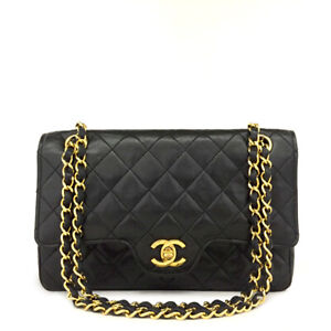 CHANEL Double Flap 23 Quilted Lambskin Classic Limited Chain Shoulder Bag/A0380