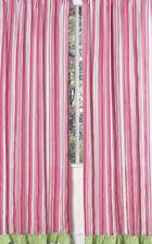 Sweet Jojo Pink Green Stripe Olivia Window Treatment Panels Curtains Coverings