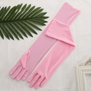 Womens Matte Long Gloves Opera Wedding Bridal Evening Party Prom Costume Gloves