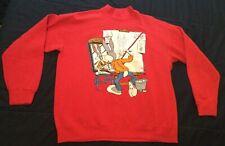 Vintage 80's Bugs Bunny Sweatshirt Self Portrait Norman Rockwell Looney Tunes L