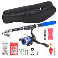 Lixada  Fishing Rod and Reel Combo Full Kit Spinning Reel Gear Pole Set O6N6
