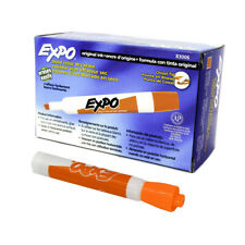 Expo 83006 Dry Erase Marker Chisel Tip Orange Pack Of 12
