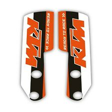 Fits: KTM 950 Supermoto LC8 2005-08 Factory Fork Guard Motocross Graphics 017