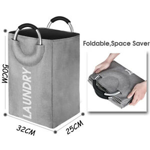 Large Collapsible Laundry Hamper Basket Storage Clothes Bag Washing Bin Organize