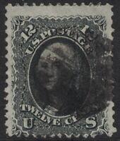 Scott 69- Used- 12c George Washington, Civil War Issue- 1861- Early US Stamp