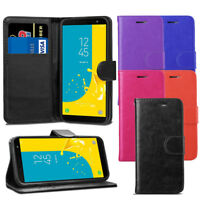 For Samsung Galaxy J6 2018 J600F Case - Leather Wallet Flip Case Cover + Screen