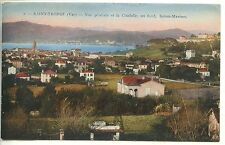 CP 83 VAR - Saint-Tropez - Vue générale et la Citadelle - Au fond Sainte-Maxime