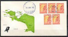 GENJEM 11.APRIL.1961 NED. NIEUW GUINEA - LANDKAART N.N.G.   Sa652