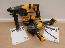 BRAND NEW DEWALT DCH333 SDS DRILL & DCG414 ANGLE GRINDER 54V FLEXVOLT BARE UNITS