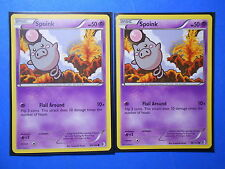 4x Spoink 59/149 Pokemon TCG card BW Boundaries Crossed common NM