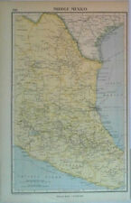 1935 Vintage Print - Middle Mexico Map
