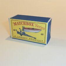 Matchbox Lesney 48 b Sports Boat & Trailer Repro empty D style Box