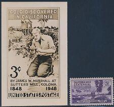 """#954E 3¢ """"California Gold Centennial"""" B.E.P. Photo Essay (Ex-Johl) Bt3147"""
