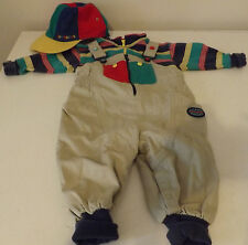 Boy's 3 Piece Gymboree Outfit - Overalls, Shirt and Cap - Size X Small 3 - 6 Mos