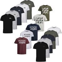 Jack & Jones Logo Printed Pack of 5 T Shirts Mens Short Sleeve Crew Neck Tee Top
