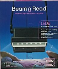 Beam n Read Led 6 Hands-Free Task Light Extra Bright Extra Wide Ships Free