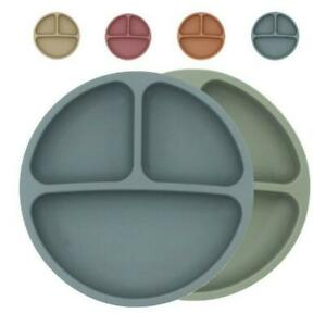 Food Grade Silicone Plate Baby Safe Dining Plates Children Suction Dish 2021