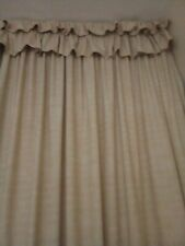 One Pair Of Lined Curtains
