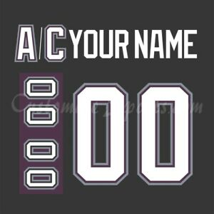 Mighty Ducks of Anaheim Customized Number Kit for 2003-06 Black Jersey
