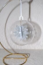 Clear Acrylic Fillable Ball Ornament 70mm Pk of 6 - Crafts Wedding Quilling New