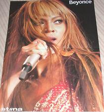 Beyonce / Jon Bon Jovi Scarce Estonian Fold Out Poster 2004 In Mint Condition B