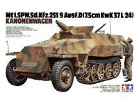 Tamiya 35147 WWII German Sd.Kfz.251/9 Kanonenwagen 1/35 Scale Plastic Model Kit