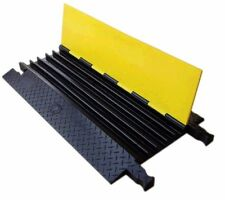 KKM 5 Channel Cable Ramp Guard Protector Heavy Duty Rubber 0.8 Meter