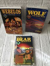 Lot Of 3 Vintage BOY SCOUTS BSA Books WEBELOS WOLF and BEAR