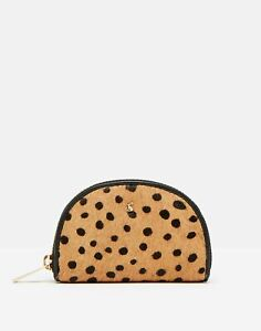 Joules Womens Thurlow Half Moon Coin Purse - Ocelot - One Size