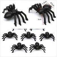 Black Spider Realistic Halloween Decoration Halloween Props Animal Black 50pcs