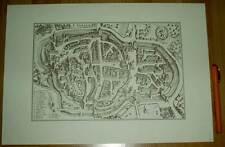 St. Gallen alte Ansicht Merian Druck Stich 1650 (schw)