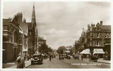 REAL PHOTOGRAPHIC POSTCARD OF LONDON ROAD, LEICESTER, LEICESTERSHIRE, VALENTINES