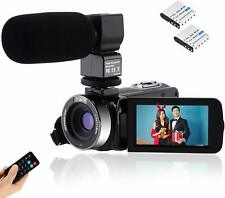 Video Camcorder Full HD 1080P Vlogging Camera 24MP 16X Digital Zoom 3.0'' LCD 27
