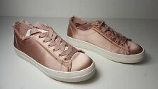 $79 size 9.5 Steve Madden Greyla Blush Lace Up Platform Sneakers Womens Shoes