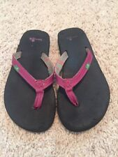 f01113c0a Little Girls Size 12 Sanuk Purple Flip Flops