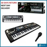 Digital 54 Keys Electronic Keyboard & Microphone Mic Electric LED Adult Size Set
