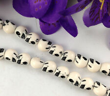3 Strands of 40 pcs off-white skull acrylic beads for shamba11a making