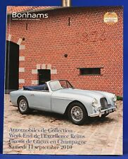 Catalogo BONHAMS aste automobili Sept 2011 week-end de l'eccellenza REIMS