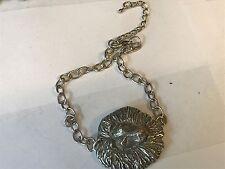 Lion's Head TG23 Fine English Pewter on a Anklet / Bracelet