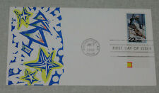 1988 Olympic Games Downhill skiing stamp 1st day cover