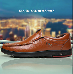 Shoes Men Genuine Leather Loafers Slip On Business Casual 49% 🔥HOT SALE🎁