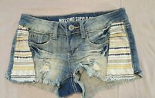 Massimo distressed denim shorts size 1