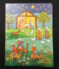 "Christmas cards Wisemen camels holidays 6"" by 5"" lot of 7 note card made USA"