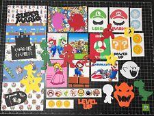 Super Mario Scrapbook Kit! Project Life, Paper, die cuts, Nintendo Scrapbook
