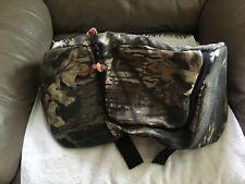 New ATV Seat Rear Cargo Bag Storage Durable Straps Mossy Oak Camouflage