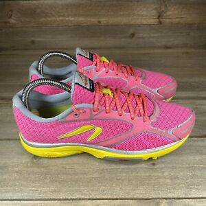 Newton Gravity 3 III Women's Size 7.5 Running Shoes Pink Yellow W000214 Used