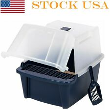 Big Cat Litter Box Covered Tray Kitten Extra Large Enclosed Hooded Hidden Toilet