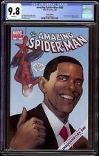 Amazing Spider-Man # 583 CGC 9.8 White (Marvel, 2009) Obama Variant Edition