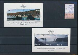 LN91166 Iceland 1995 views landscapes sheets MNH cv 21 EUR