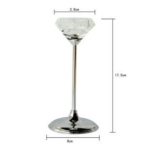 Bulk Lot x 6 Wedding Tealight Candle Votive Holder Glass Tall